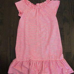 Vineyard Vines pink striped cotton dress NWT